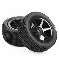 4X 1:10 Rubber Front&Rear Off-Road Tires &Wheel  For 12mm Hex HSP RC Buggy Car