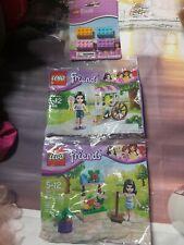 Lego Friends Flower Stand (30112) & 30106 ice cream & Lego Brick erasers! Nib