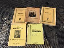 3 KALMUS Study Scores #s 7, 750, 754 Beethoven Plus 2 Eulenburg guides #701, 411