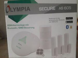 OLYMPIA SECURE AS 605 GSM Alarmanlage mit Bluetooth- /SMS Steuerung NEU