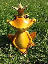 XL großer Froschkönig Frosch, wetterfeste Garten Deko Figur Dekofigur in/outdoor