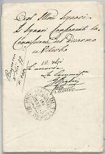 STATO PONTIFICIO  storia postale - BUSTA da BAGNOREA: Comissione disarmo 1849