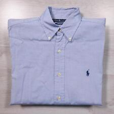"""RALPH LAUREN Yarmouth Blue Designer Cotton Shirt 15.5"""" /  XL #A3579"""