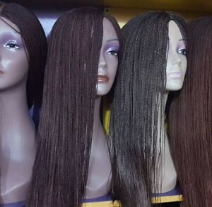 Hand Braided - Micro Braid Lace Wig : Million Braids 18inches Black, Brown,wine