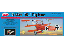 "Guillows 204 - Fokker DR-1 Triplane 1:16 Scale Balsa Wood Kit 20"" Wing Span"