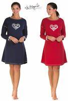 Ladies Scottie Dog Jersey Nightdress Cotton Rich By La Marquise Sizes UK S - XXL