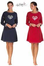 Ladies Scottie Dog Jersey Nightdress Cotton Rich by LA Marquise Sizes UK S - XXL Large/x Large Red