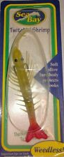 Snag Proof Sea Bay Twitchin' Shrimp Saltwater Fishing Green Pink Tail Weedless