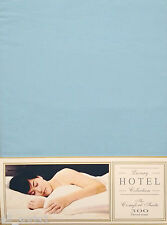 DOUBLE BED SIZE DUVET COVER SET 300 THREAD DUCK EGG AQUA HOTEL EGYPTIAN COTTON
