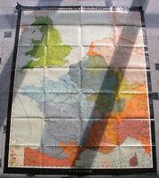 Römerzeit 136x175 1969 vintage roman times wall map B 日耳曼 古罗马时代 JA ゲルマニアローマ時代