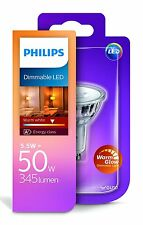4x Philips WarmGlow LED GU10 dimmbar 5W = 50W Sockel Strahler Spot Reflektor