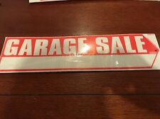 "GARAGE SALE SIGN 2 Side BIG RED ARROW 18"" X 4.75"" - 2 Stakes Directional - NEW"