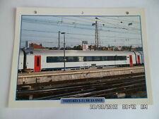 CARTE FICHE TRAIN VOITURES I-11 DE LA SNCB
