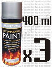 3 X High Temperature Paint Heat Resistant Silver Matt  Stove Exhaust 400ml