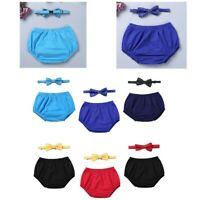 Details about  /Girls Boys Bloomer Outfits Birthday Cake Smash Ruffled Diaper Cover Photo Props