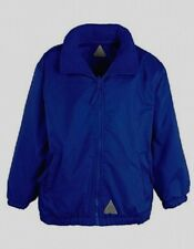 New NAVY BLUE Reversible COAT Age 7-8 childrens jacket high quality clothing