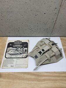 Original Star Wars Snow Speeder Vintage Kenner 1980 With Original Manual