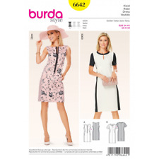 Burda Misses Panel Pencil Smart Dress Sewing Pattern 6642