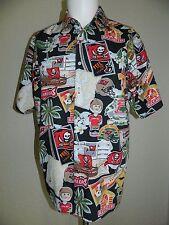 dcb6be75 Reyn Spooner Men NFL Tampa Bay Buccanees Hawaiian Shirt sz M MINT