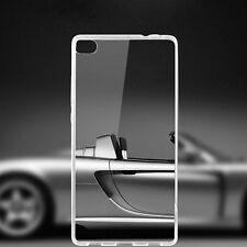 For Huawei Ascend P8 Lite Ultra-Thin Clear Soft TPU Gel Transparent Case Cover