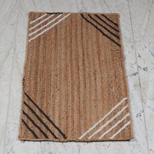 Rug 100% Natural Jute handmade modern living area carpet rug home decor rag rug