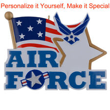 MAXORA Air Force  Personalized Ornament Christmas Holiday Gift DO-IT-YOURSELF