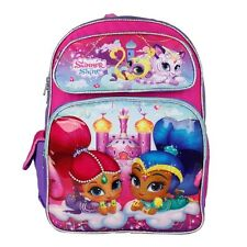 """Nickelodeon Shimmer and Shine Pink Girls Pink 16""""  Large Backpack"""