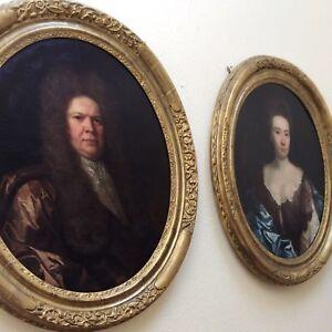 Portraits of Sir William Cowper and Lady Sarah Cowper,Circle of Michael Dahl