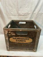 Vintage Harrisburg Dairy  Pennsylvania Fiberglass Steel Milk Crate