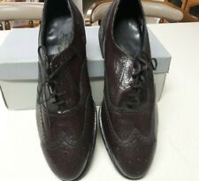 Vintage Men'S Oxford Brown Leather Dress Shoes Cap Toe Florsheim Sz 9 1/2 E