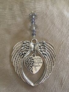 Mother and Daughter Forever Hanging Angels Wings Keepsake Suncatcher