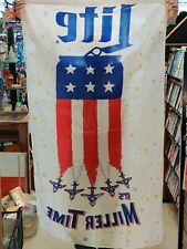 Miller Lite It's Miller Time Banner Flag Beer Sign 5x3'