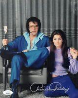 PRISCILLA PRESLEY Signed ELVIS 8x10 Photo IN PERSON Autograph JSA COA Cert