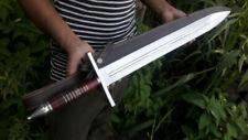 "JJhunters Damascus Knife Custom Handmade 28"" Rose Wood Handle D2 Steel Sword=IM4"