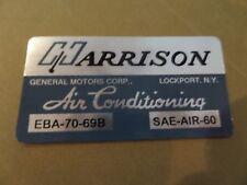 1969 69 CHEVELLE CAMARO FIREBIRD  AC Evaporator Box Decal Harrison EBA-70-69B