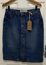 Ladies Brakeburn Long Blue Soft Cotton Denim Skirt - Size 12