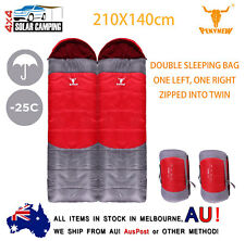 -25°C Outdoor Camping Twin Envelope Sleeping Bags Tent Thermal Winter 210X140cm