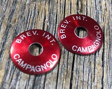 CAMPAGNOLO DOWNTUBE SHIFTERS COVER WASHER CAMPY DOWNTUBE SHIFTER BREV. INT. RED