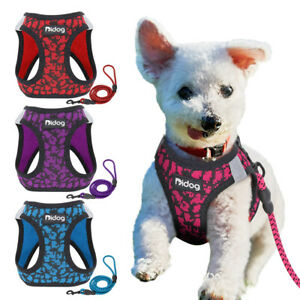 Pet Cat Walking Harness Puppy Dog Harness and Leash Reflective Chihuahua Vest