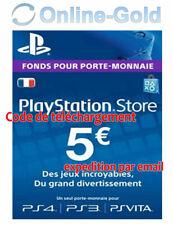 Compte français - Carte Playstation Network 5 EUR - € 5 PSN Jeu PS3 PS4 PS Vita