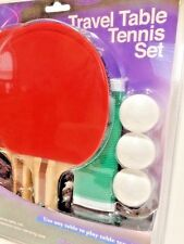 Travel Table Tennis Set by Protocol 2 Paddles 3 Balls Net Carry Case