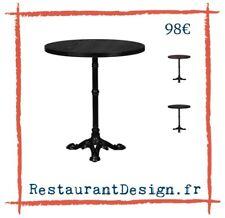 Table de bistrot ronde plateau foncé