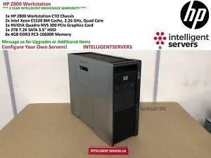 HP Z800 Workstation, 2x Xeon E5520 2.26GHz, 24GB DDR3, 2TB HDD, Quadro NVS 300