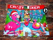 Mens Crazy Boxer Flamingo Santa Boxer Brief Size L