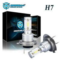 Pair H7 Car Motorcycle LED Headlight Kit 55W 8000LM Bulbs 6000K Driving DRL Lamp