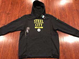 Nike Men's Pittsburgh Steelers Sideline Local Lockup Hoodie Sweatshirt XL NFL