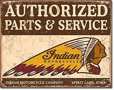 Indian Motocycles Authorised Parts & Service metal sign (de)