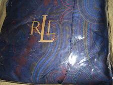 Ralph Lauren Driver Paisley Navy Blue King Bed Skirt - 1st Quality - $160+ RARE