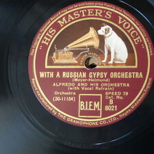 78rpm ALFREDO & ORCH with a russian gypsy orchestra / two guitars