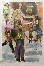 THEO TOBIASSE Des Accordeons de Chair Rire Hand Signed Limited Editon Lithograph